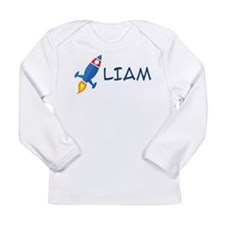 Liam Rocket Ship Long Sleeve Infant T-Shirt