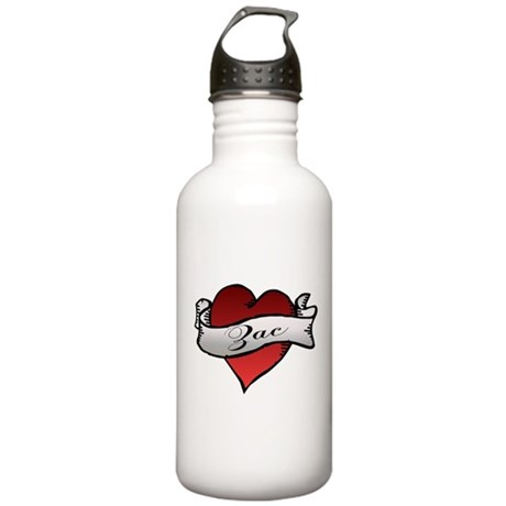 Zac Heart Tattoo Stainless Water Bottle 1.0L