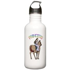 Brunette Princess and Pony Sports Water Bottle