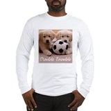 """Double Trouble"" Puppies Sleeved T-shirt"