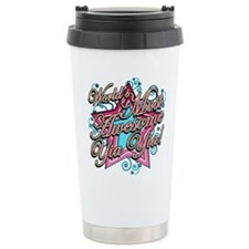 Worlds Most Awesome Yia Yia Ceramic Travel Mug