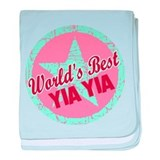 The World's Best Yia Yia Gift baby blanket