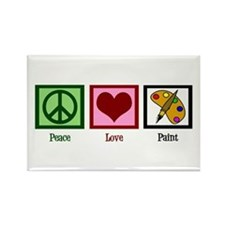 Peace Love Painting Rectangle Magnet