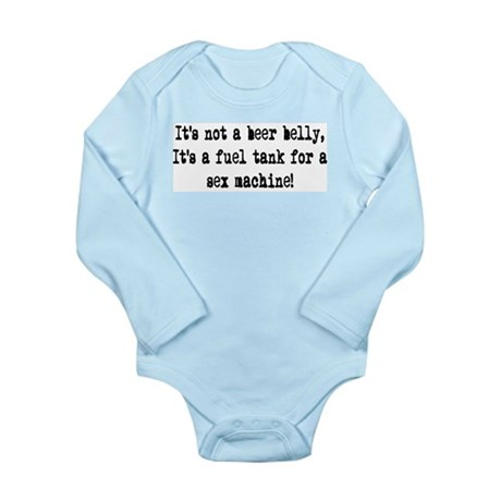 beer belly Long Sleeve Infant Bodysuit