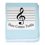 Here Comes Treble .. baby blanket