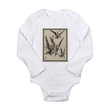 Flying Monkeys Long Sleeve Infant Bodysuit