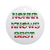 Nonna Knows Best Ornament (Round)