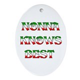Nonna Knows Best Oval Ornament
