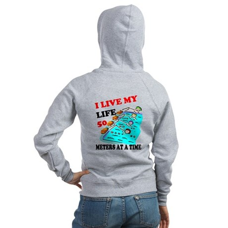 Fifty Meters At a Time Women's Zip Hoodie