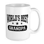 World's Best Grandpa Large Mug