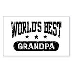 World's Best Grandpa Sticker (Rectangle)
