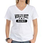 World's Best Aunt Women's V-Neck T-Shirt