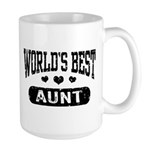World's Best Aunt Large Mug