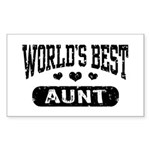 World's Best Aunt Sticker (Rectangle)