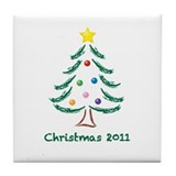 Christmas Tree 2011 Tile Coaster