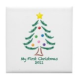 My First Christmas 2011 Tile Coaster