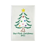 Our First Christmas 2011 Rectangle Magnet (10 pack