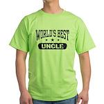 World's Best Uncle Green T-Shirt