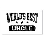 World's Best Uncle Sticker (Rectangle)
