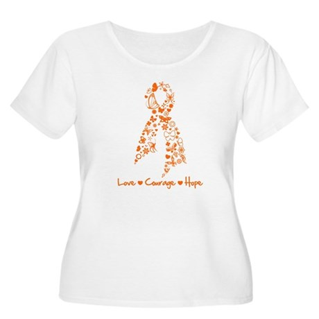Leukemia Love Hope Women's Plus Size Scoop Neck T-