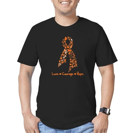 Leukemia Love Hope Men's Fitted T-Shirt (dark)