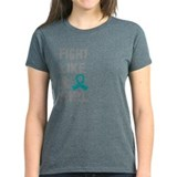 Fight Like A Girl Ovarian Cancer Tee