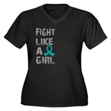 Fight Like A Girl Ovarian Cancer Women's Plus Size