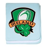 rugby ireland shamrock baby blanket