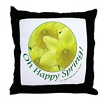 Daffodils, Oh Happy Spring Throw Pillow