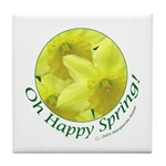 Daffodils, Oh Happy Spring Tile Coaster