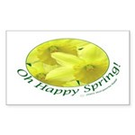 Daffodils, Oh Happy Spring Rectangle Sticker