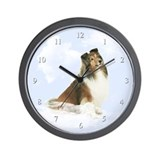 Heavenly Sheltie Wall Clock