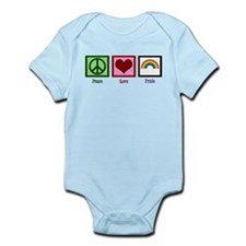 Peace Love Pride Rainbow Infant Bodysuit