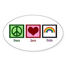 Peace Love Pride Rainbow Decal