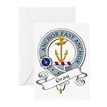 Gray Clan Badge Greeting Cards (Pk of 10)