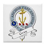 Gray Clan Badge Tile Coaster