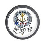 Gray Clan Badge Wall Clock