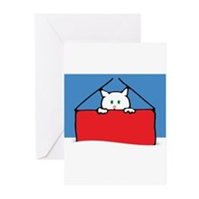 Holiday Cards- Cat in Box Greeting Cards (Pk of 10