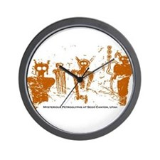 Sego Canyon Glyphs Wall Clock