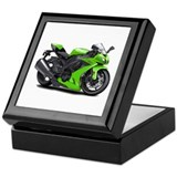 Ninja Green Bike Keepsake Box