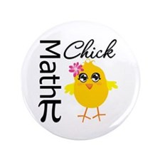 "Math Chick 3.5"" Button (100 pack)"