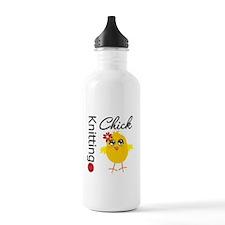 Knitting Chick Water Bottle