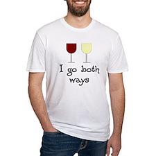 I Go Both Ways Red White Wine Shirt