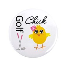 "Golf Chick v2 3.5"" Button (100 pack)"