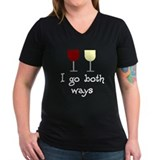 I Go Both Ways Red White Wine Shirt