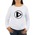 Play Button Women's Long Sleeve T-Shirt