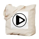 Play Button Tote Bag