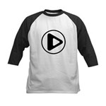 Play Button Kids Baseball Jersey
