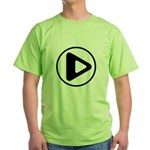 Play Button Green T-Shirt