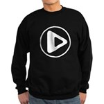 Play Button Sweatshirt (dark)